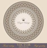 Ročník kruhu rámce design prvky kolekce. vektorové květinový ornament. Super vysoce detailní. luxusní
