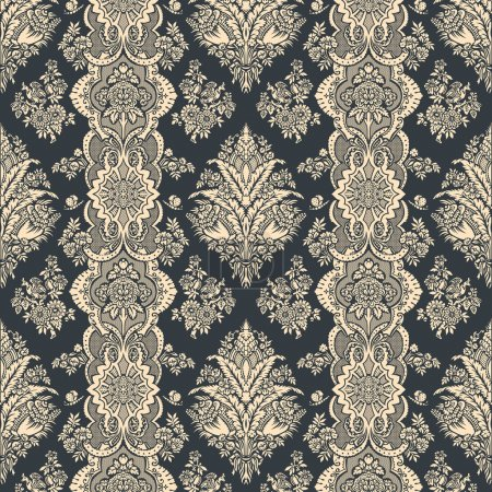 Illustration for Vintage background. Floral pattern. Ornament Wallpaper. - Royalty Free Image