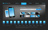 Smartphone touch technology concept business innovation Website template for stylish concept online store or something else Editable