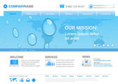 Water drops on world map business background concept Website template for fresh business ideas ecology innovations Editable