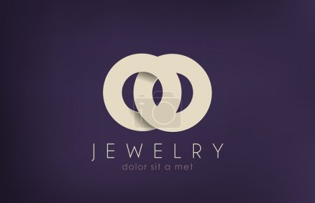 Luxury Jewelry Fashion vector logo design. Creative concept.