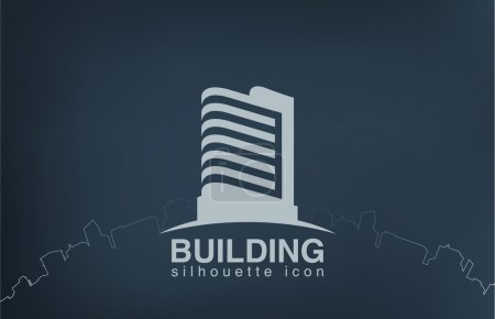 Logo skyscraper modern building. Real Estate logotype.