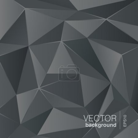 Dark grey abstract background polygon triangle style.