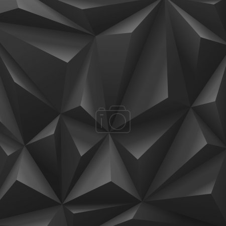 Illustration for Black carbon background abstract polygon. Fashion luxury. - Royalty Free Image
