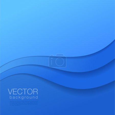 Illustration pour Abstrait vecteur bleu Arrière-plan avec copyspace . - image libre de droit