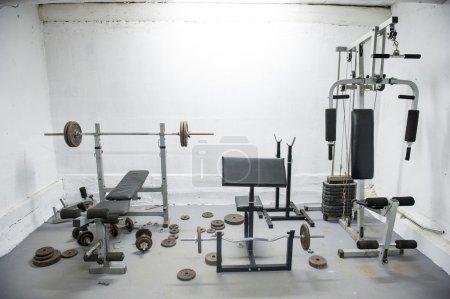 Foto de Una imagen de gimnasio en casa amateur - Imagen libre de derechos