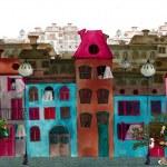 Illustrated beautiful street...