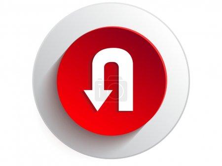 Illustration for U Turn Signage web icon - Royalty Free Image