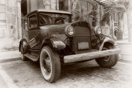 Photo pour Photographie d'art vieille voiture classique dans la rue - image libre de droit