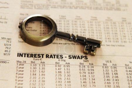Photo pour Rapport - taux d'intérêt - image libre de droit