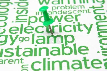 Photo pour Poussez la broche sur l'électricité et le texte de l'agneau - image libre de droit