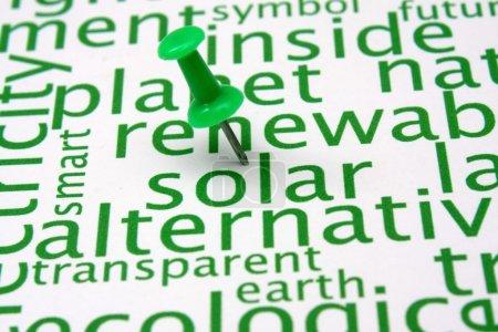 Photo pour Nuage de mots énergies renouvelables - image libre de droit