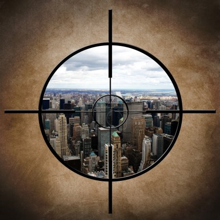 Photo for Military target on New York - Royalty Free Image