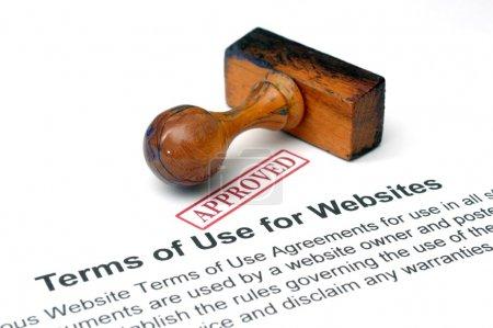 Photo pour Conditions d'utilisation des sites Web - image libre de droit