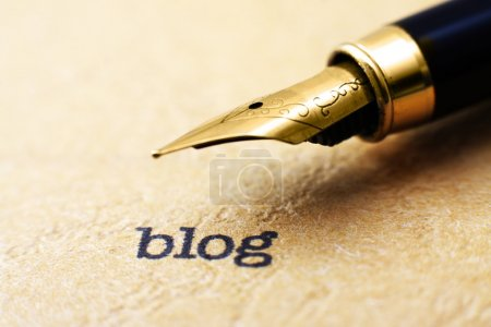 Photo for Blog concept - Royalty Free Image