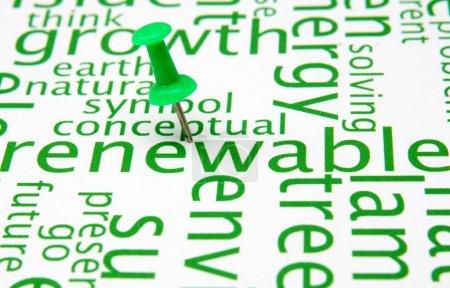 Photo pour Energies renouvelables - image libre de droit