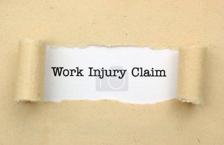 Foto de Reclamación de lesiones de trabajo - Imagen libre de derechos