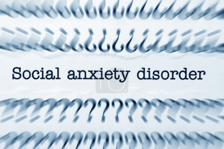 Photo for Social anxiety disorder - Royalty Free Image