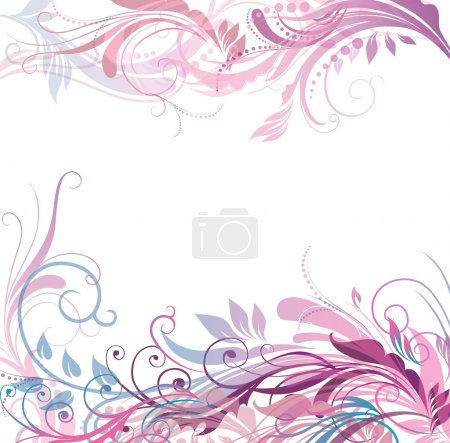 Illustration for Floral pattern background in gentle coloring - Royalty Free Image