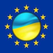 Ukrainian flag and European Union