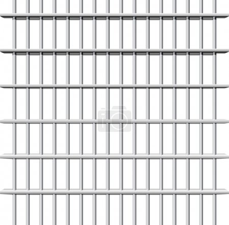 Prison grid on white