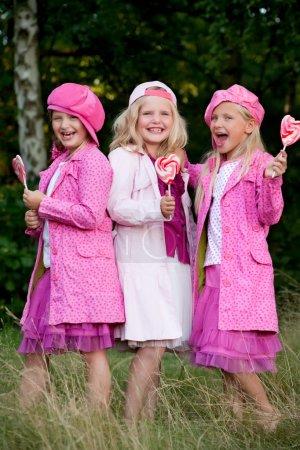 3 pink jacked sisters