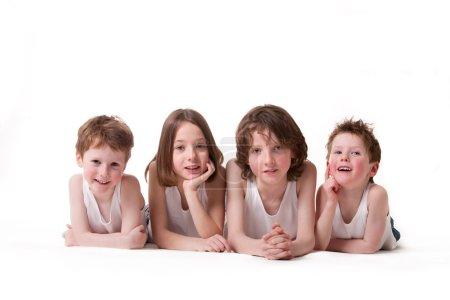 4 cute children