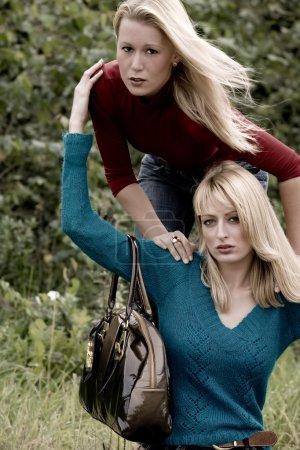 Happy fashion sisters
