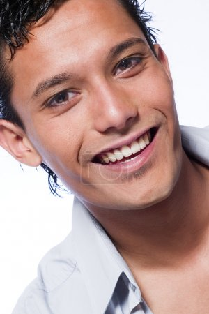 Indonesian young man smiling