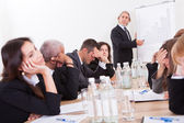 Portrait Of Sad Business Team