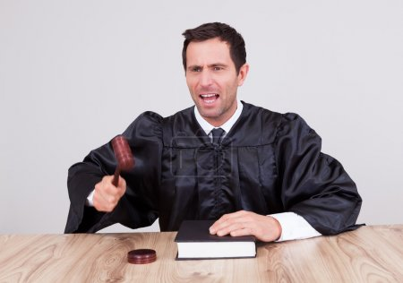 Male Judge In A Courtroom
