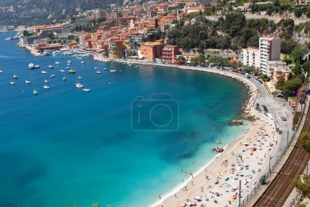 Photo for High angle view of beach. Nice, France - Royalty Free Image