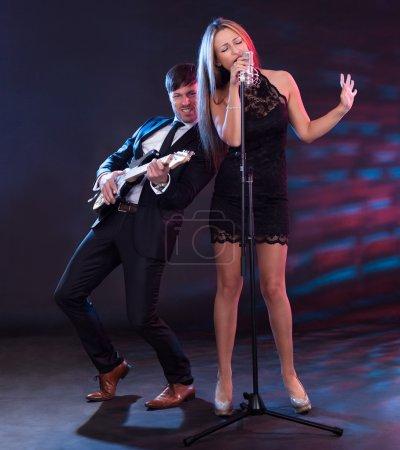 Performers entertain audience