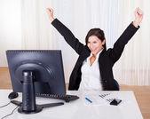 úspěšná podnikatelka slaví