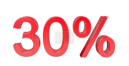 Photo pour 30 pour cent de remise de vente. Isolé sur fond blanc - image libre de droit