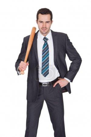 Gangster with baseball bat