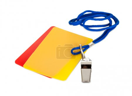 Sport whistle and cards