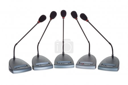 Set of conference microphones