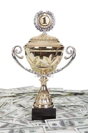 Golden trophies awards cup