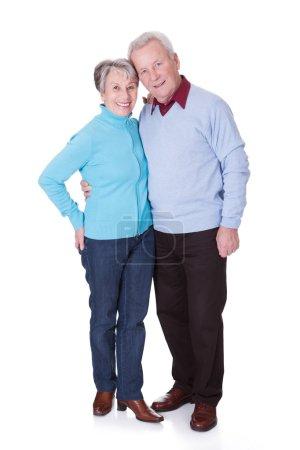 Photo for Portrait Of Happy Senior Couple Isolated Over White Background - Royalty Free Image