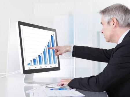 Mature Businessman Looking At Computer