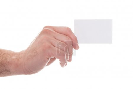 Hand Holding Visiting Card