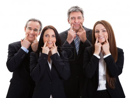 Group Of Businesspeople Gesturing
