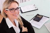 Podnikatelka, práce v kanceláři