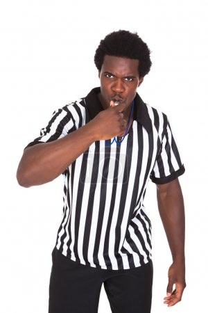 Portrait Of African Referee