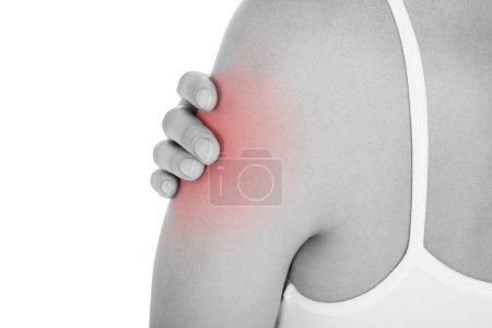 Woman having arm pain