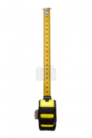 Measurement tape isolated on white background