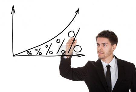 Photo pour Notion de croissance intérêt sur l'écran blanc - image libre de droit