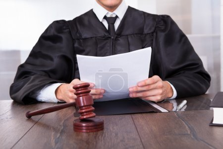Judge Holding Documents