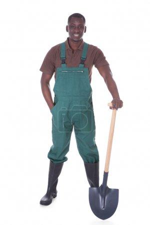 Male Gardener With Shovel
